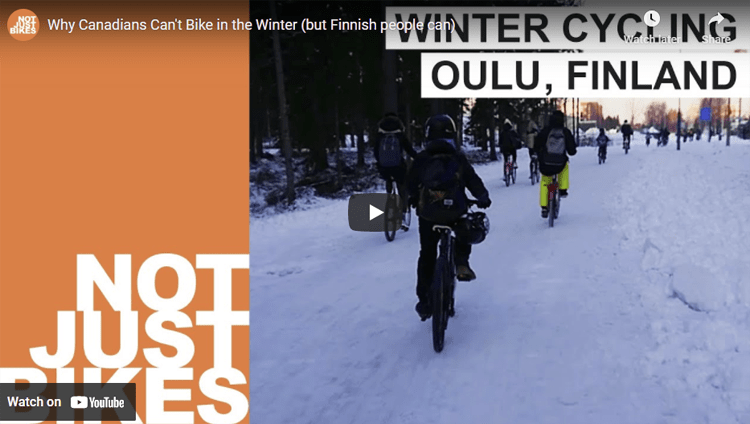 Winter Cycling Oulu Finland