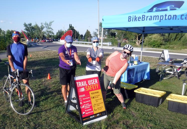 BikeBrampton displays Trail User Safety