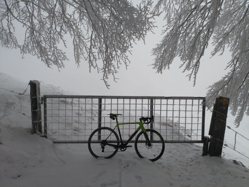 Cyclocross Winter Nebel