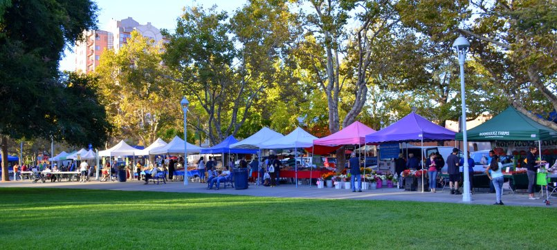 Concord's Farmer's Market at Todos Santos Plaza, Bike Tent's regular home.