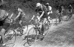 French racing cyclist Charles Pelissier rides during the 2nd stage Caen-Dinan of the 24th Tour de France, on July 3, 1930. (Photo credit should read -/AFP/Getty Images)