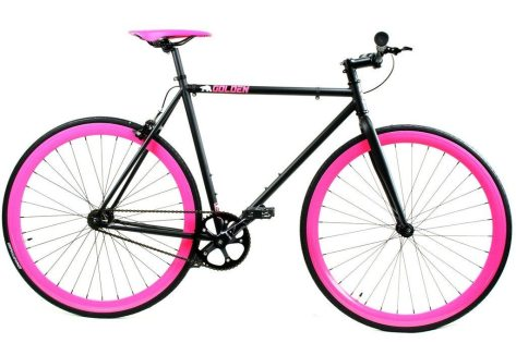 Golden Cycles Fixed Gear Bike Steel Frame Fixie with Deep V Rims-Collection