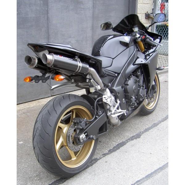 racefit growler titanium carbon slip on exhaust for yamaha yzf r1 2009 2014