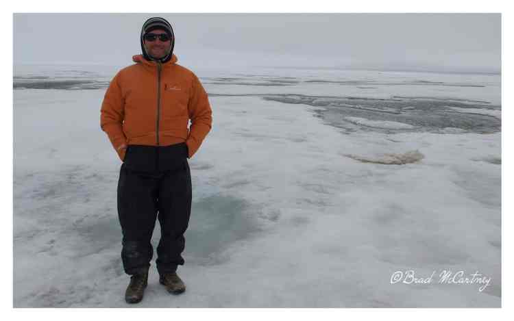 Standing on the Frozen Arctic Ocean