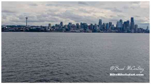 Seattle skyline as I approach on the Bainbridge Island ferry