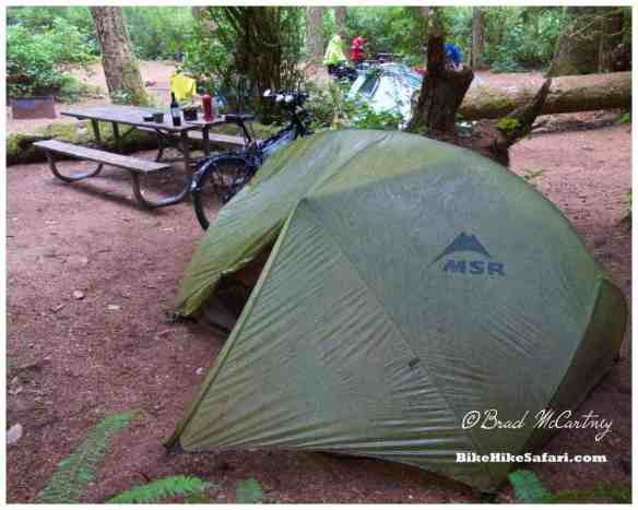 Hiker Biker Campsite at Honeyman State Park