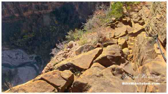 Another exposed section of trail on route to Angels Landing