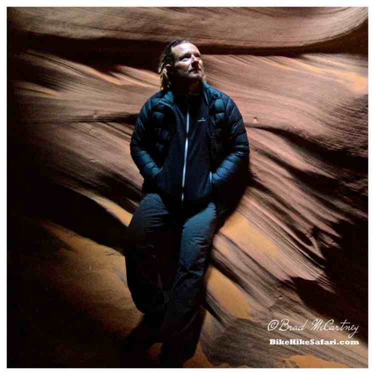 Almost enough light for a portrait, Antelope Canyon