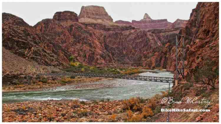 One of the suspension bridges crossing the Colorado River linking north to south
