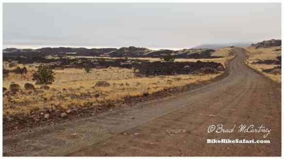 Cycling through a lava field