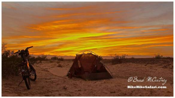 Last night camping in the Arizona Desert