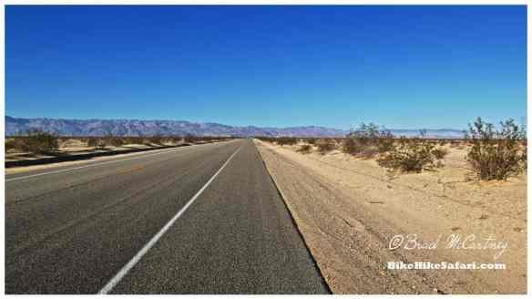 The long deserted desert roads