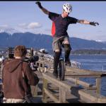 Mountain Bike Racing on One Wheel