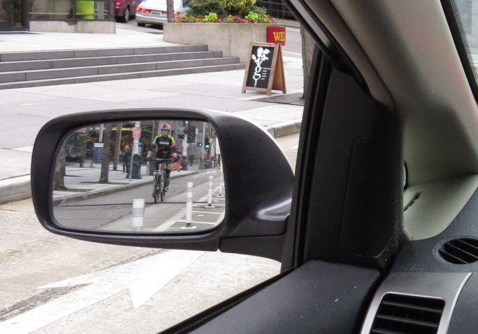 Rearview mirror bike safety traffic