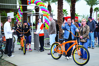 More than 200 Eastmark residents picked up their Eastmark Original Cruiser and took part in the inaugural community cruiser ride.