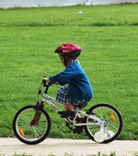 A solo, young rider