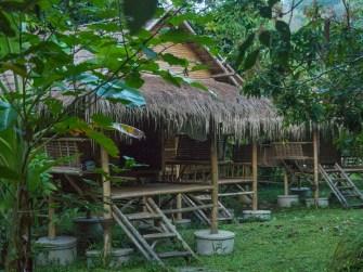 Bambusové chatky v Cool Banana Homestay
