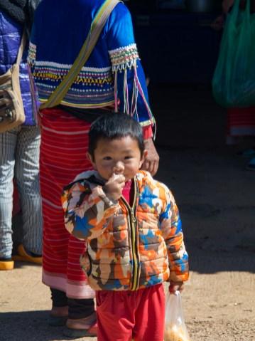 Malý kluk z kmene Palaung