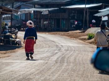 Žena kmene Palaung ve vesnici Nor Lae