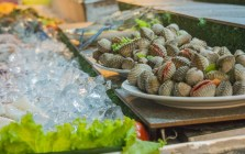 Sea food at Chiang Rai Night Bazar