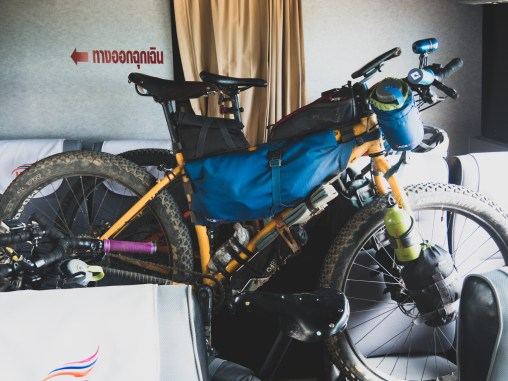 Forced transportation of our bikes and ourselves from Thailand to Laos