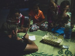 Drawing Quiz Night in Phon Kham Village