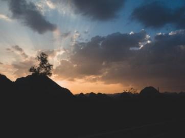 Vietnamský západ slunce