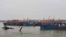Rybářské lodě v Dong Hoi