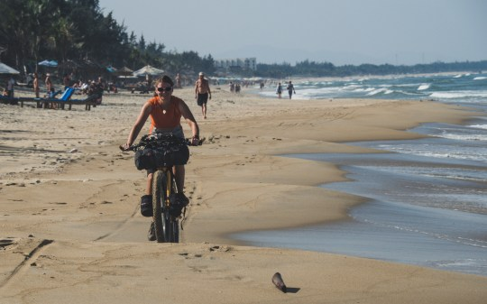 Beach ride in Hoi An