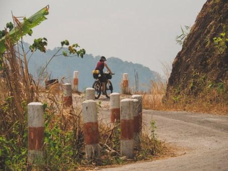 Beautiful climb on an old road to Kawkareik