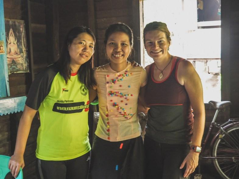 Jin, Su Su and Dasha, Kawkareik