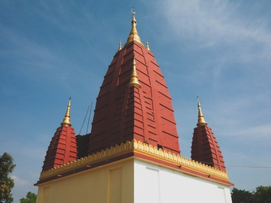 Temple roof, village near Yangon