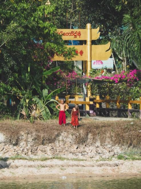Mníšci, Hadí pagoda, Yangon