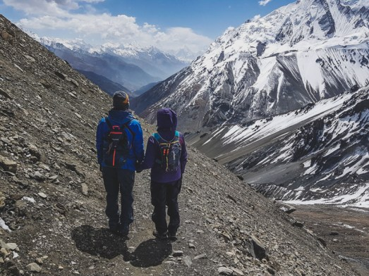 On the way back from Tilicho Lake. Manang, Nepal