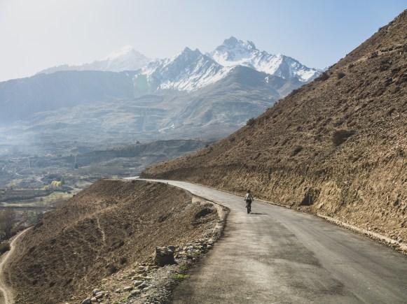 A road to Muktinath. Khingar, Nepal