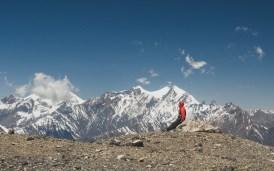 Gery a panorámata. Muktinath, Nepál