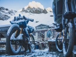 Snow wonderland. Thorong Pedi, Nepal