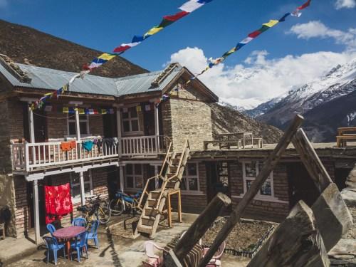 Penzion s výhledem. Gunsang, Nepál