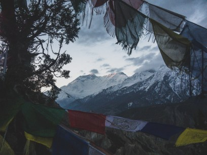 Východ slunce na Annapurně II. Gunsang, Nepál