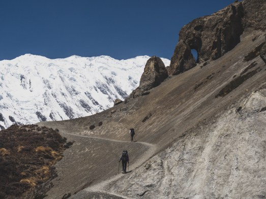 Trek do Tilicho Basecampu. Khangsar, Nepál