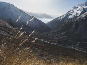 View back to Pisang Valley. Tilicho Lake Trek, Nepal