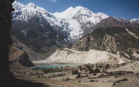 Gangnapurna Lake. Manang, Nepal