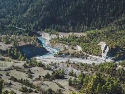 River. Upper Pisang, Nepal