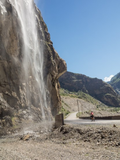 A Waterfall. Tajikistan and Afganistan Frontier