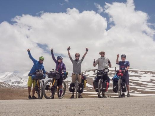 Together in Koitezek Pass. Pamir, Tajikistan