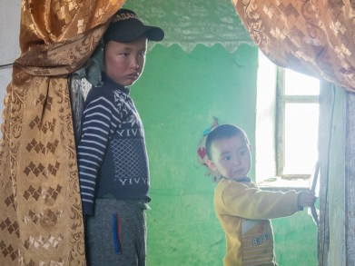 Kyrgyzské děti. Oblast Alichur, Tádžikistán