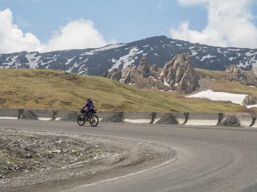 Earning those turns. Sary-Tash Area, Kyrgyzstan