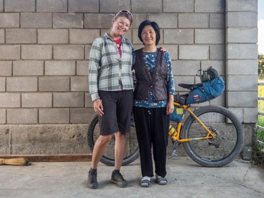 With our lovely host. Kazarman, Kyrgyzstan