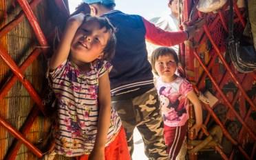 Nomádské děti. Kok-Djar, Kyrgyzstán
