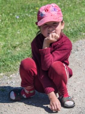 Kyrgyzská holčička, Kyrgyzstán